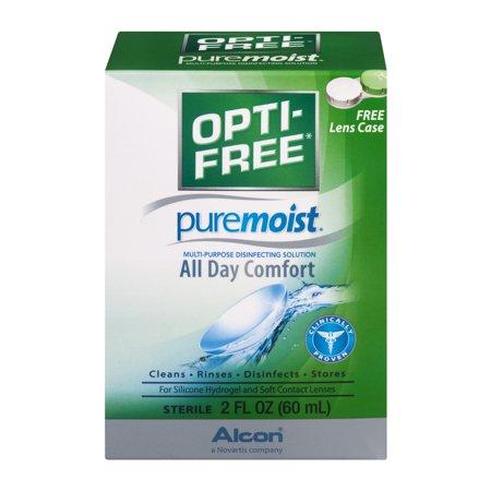 Opti Free Puremoist Multi Purpose Disinfecting Solution All Day Comfort  2 0 Fl Oz
