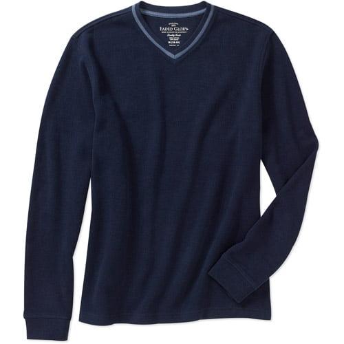 Faded Glory Men's Long Sleeve Solid Flat Back Sweater