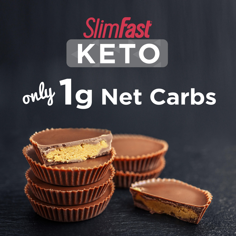 SlimFast Keto Fat Bomb Snacks, Peanut Butter Cups, 0 6oz