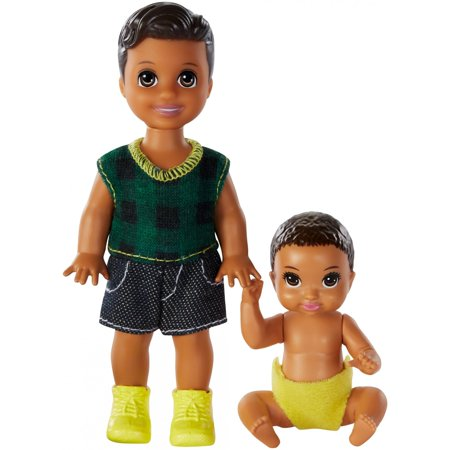 Barbie Skipper Babysitters Inc. Dolls, 2 Pack of Boy Siblings, Small Toddler Doll and Baby Doll - Womens Baby Doll Shoes