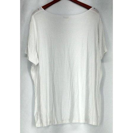 Jaclyn Smith Sz XXL Rhinestone Embellished Knit Top White Womens ()