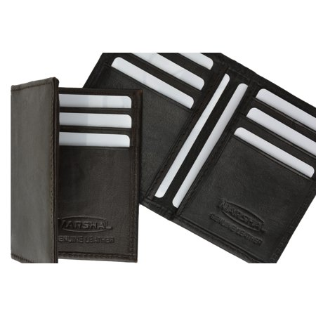 Genuine Lamb Leather Bifold Business Card and Credit Card Holder Top Load 68 (C) - Genuine Lab