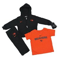 Nike NCAA Boy's Oregon State Beavers 3 Piece Sweatsuit Set