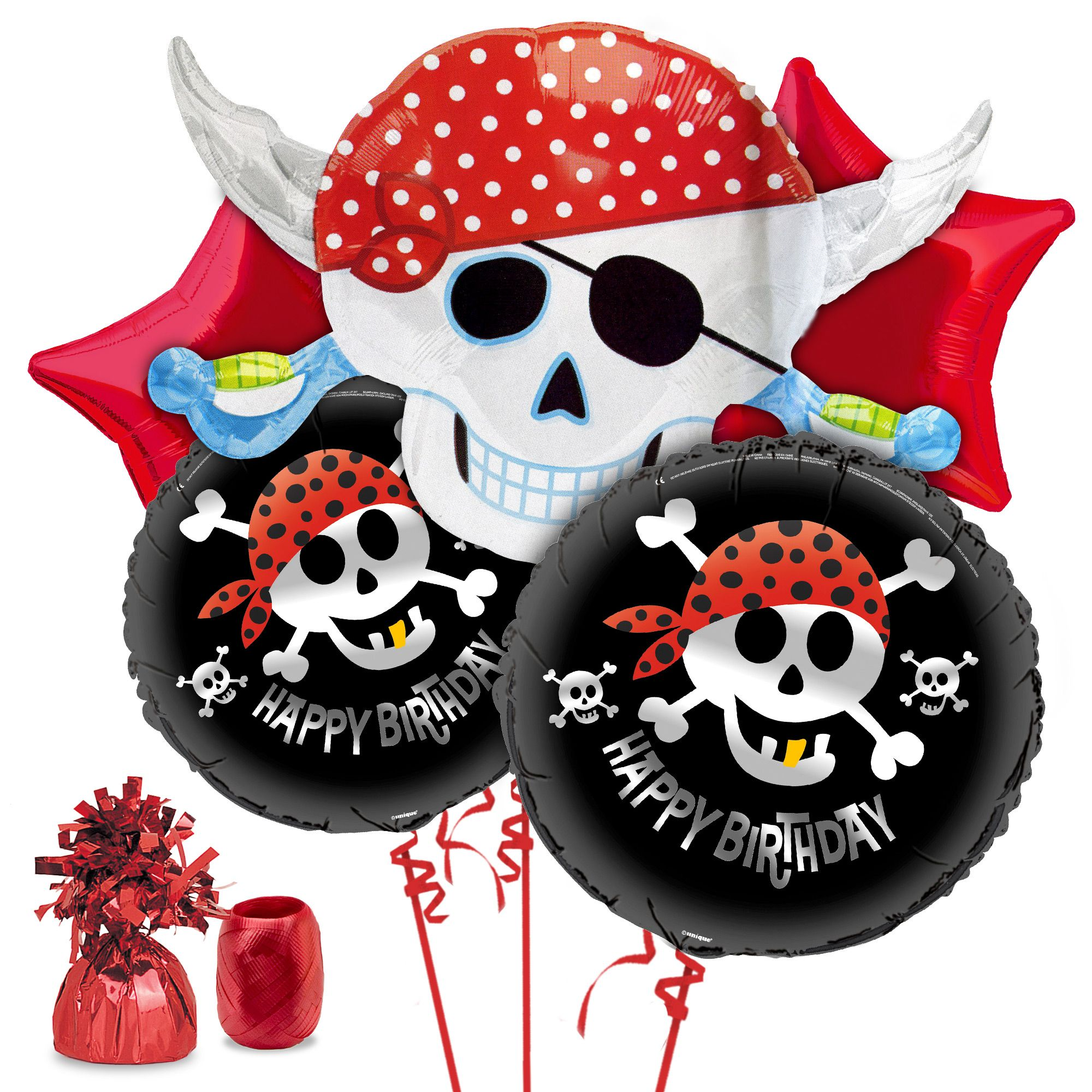 Pirate Birthday Balloon Kit - Party Supplies