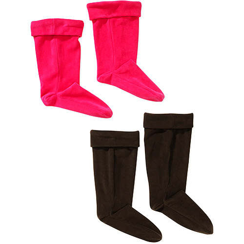 Women's Microfiber Fleece Mid-Height and Tall Rain Boot Liners, 2 ...