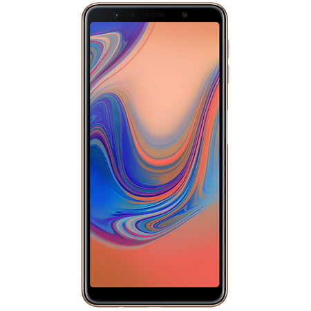 Samsung Galaxy A7 (2018) A750 64GB Unlocked GSM Dual-SIM Phone w/ Triple 24MP + 8MP + 5MP Camera -