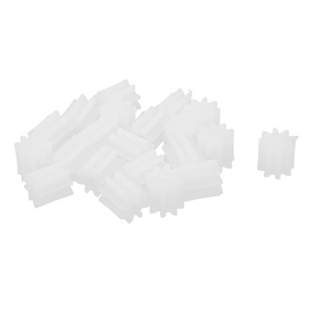 20pcs 4.5mmx0.9mm 8 Teeth Plastic Thick Motor Spindle Spur Gear f DIY Robbot