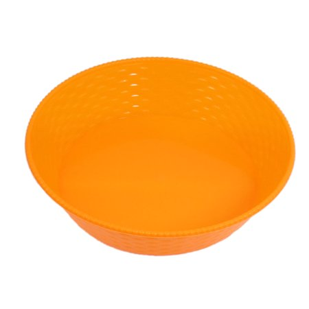 Household Orange Plastic Sundries Storage Tray Container