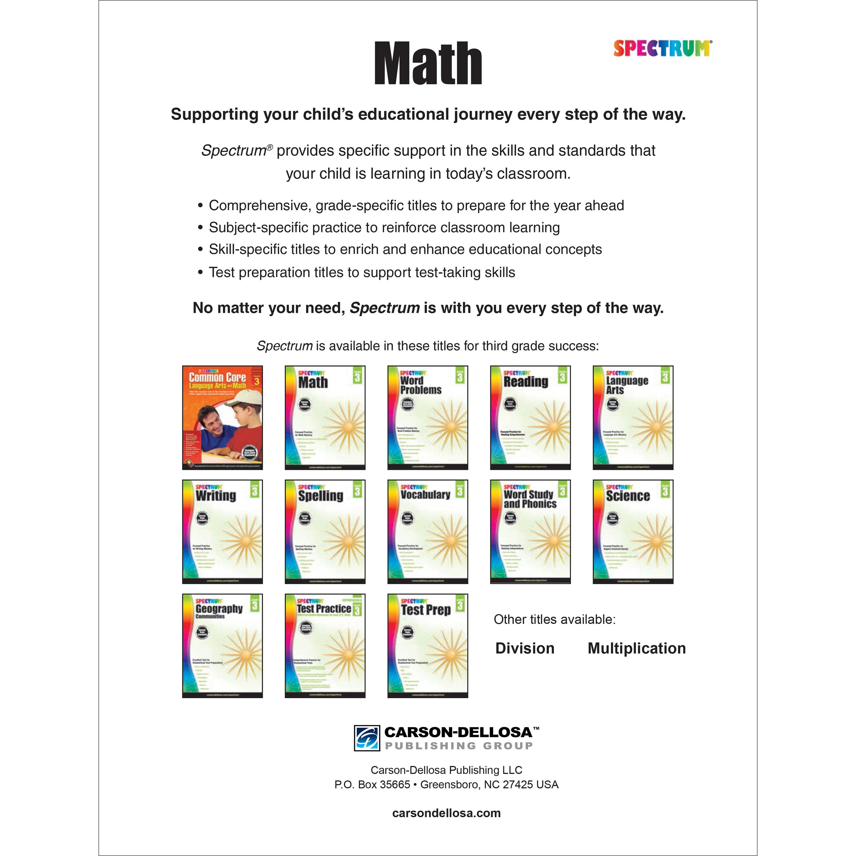 Spectrum Spectrum Math Workbook Grade 3 160 Pages Walmartcom
