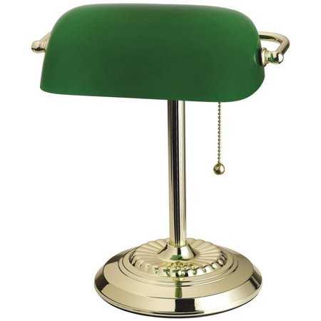Brass Accent Lamp (Living Accents 17466-012 Bankers Lamp, Brass )