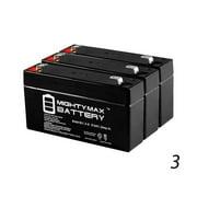 6V 1.3Ah Philips H101 COMMUNICATOR Medical Battery - 3 Pack