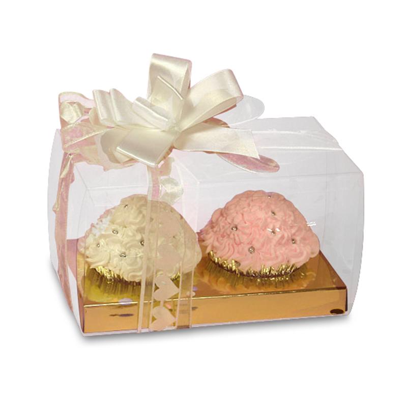 "Plastic Cupcake Boxes 4"" X 4"" X 7""   Quantity: 20 by Paper Mart"