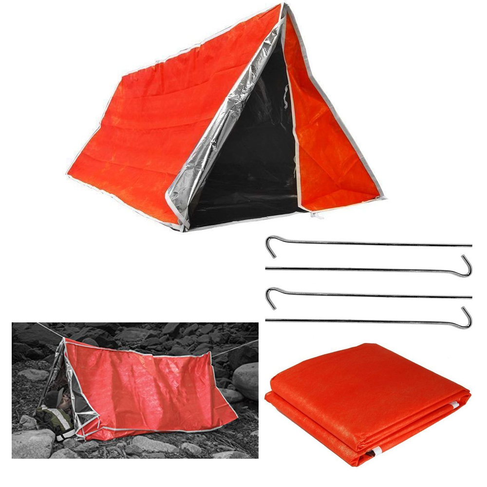 2 Persons Tube Tent Emergency Survival Hiking Camping Shelter Outdoor Portable !