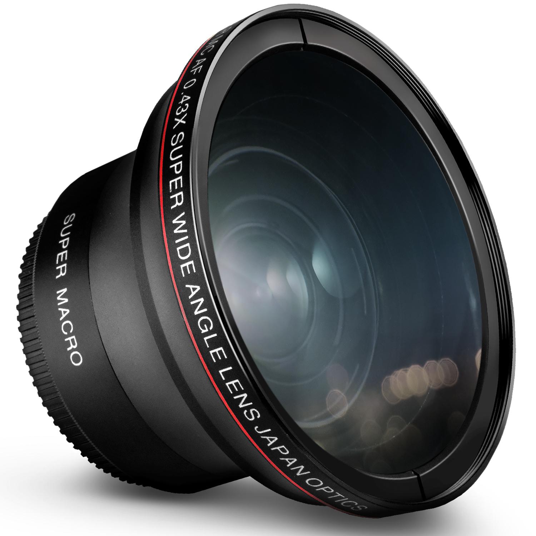 52MM 0.43x Altura Photo Professional HD Wide Angle Lens (...