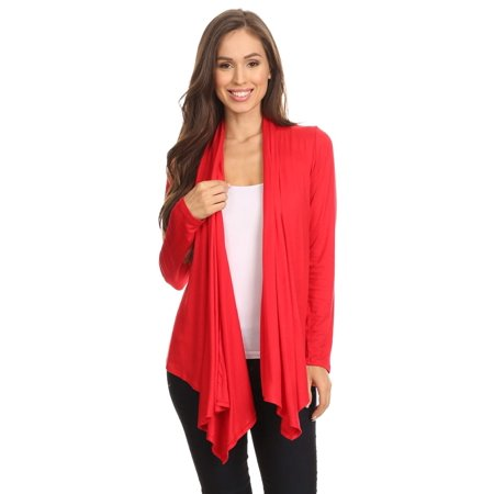 Women's trendy style , long sleeves solid cardigan.