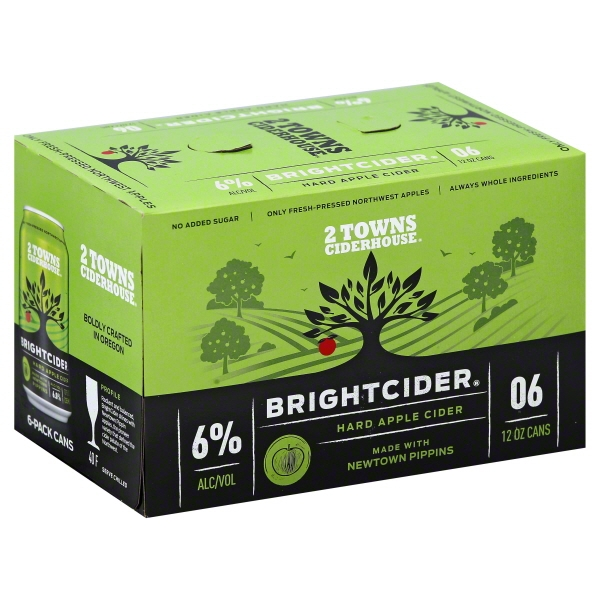 Image of 2 Towns Ciderhouse Bright Cider 4/12c