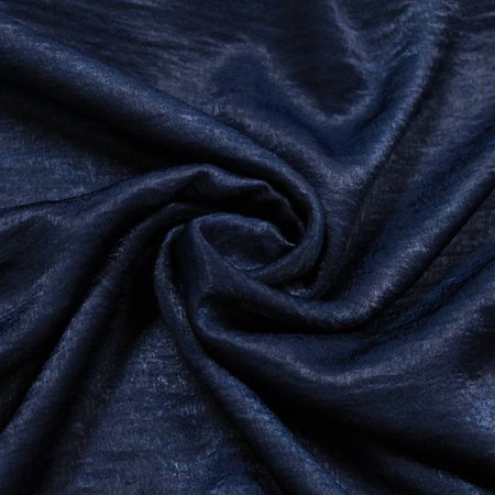 Navy B Soft Poly Sand Wash Satin Fabric by the Yard
