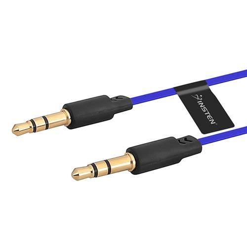 Insten 3.5mm Audio Aux Stereo Extension M/M Cable Cord , 3.3FT Dark Blue (for iPhone 6S 6 Plus 5.5 / 4.7)