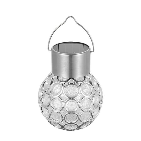Solar Powered Energy LED Outdoor Lamp Manual & Light 2 Control Modes Rechargeable Hollow-out Spherical Design Multi-Colored Changing IP65 Water Resistance for Garden Yard Path Decoration