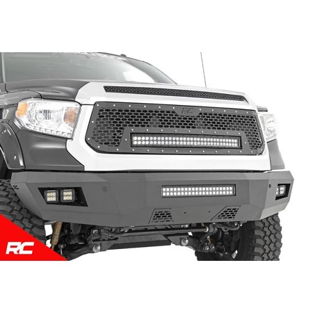 Duty Cube Truck - Rough Country Heavy Duty Front Bumper w LEDs compatible w/ 2014-2019 Toyota Tundra (1) 20