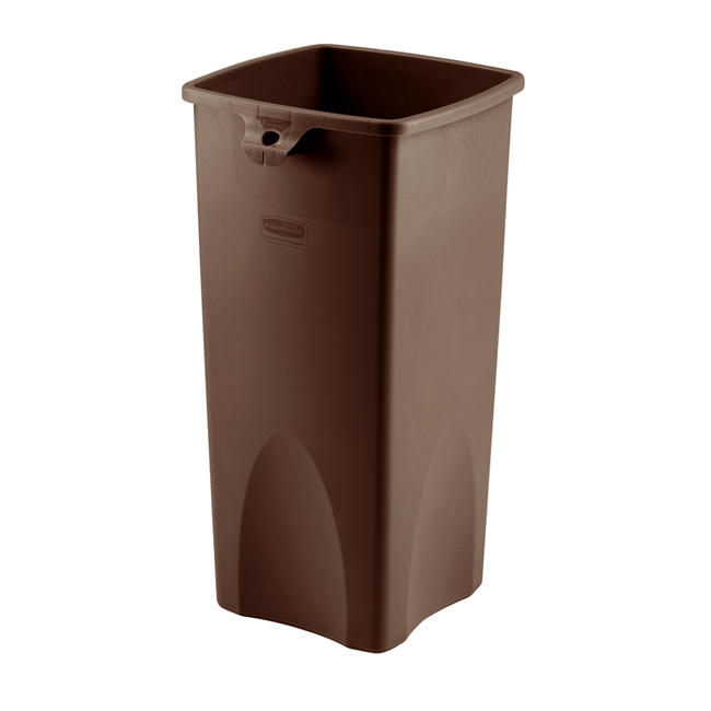 Untouchable® Container Square Brown 23 gal