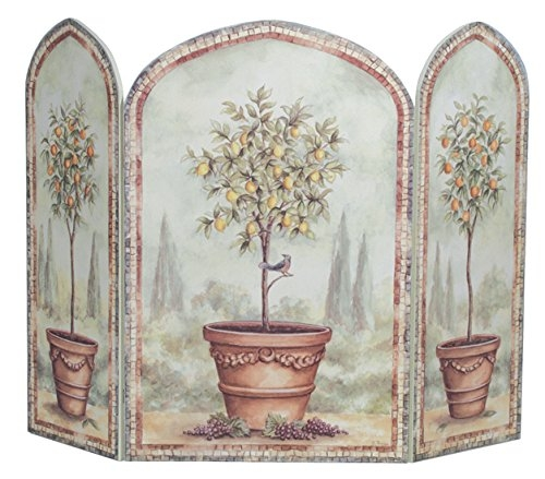 Stupell Home Décor Orange And Lemon Trees 3-Panel Decorative Fireplace Screen, 43 x 0.5 x 31, Proudly Made in USA by The Stupell Home Decor Collection