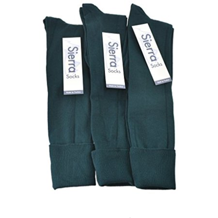 Black Opaque Nylon Knee High - Classic Flat knit Opaque Nylon Knee High Socks 3 Pair Pack W1440