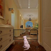 """28.3""""H Magic Gate for Dogs, Folding Mesh Indoor and Outdoor Safety Gate"""