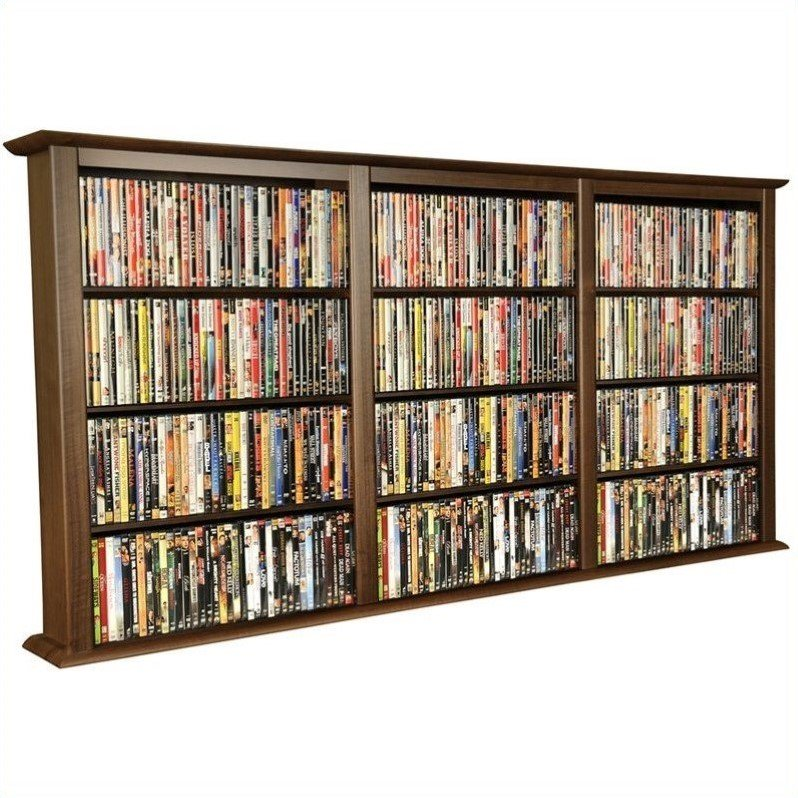 Venture Horizon Triple Wall Mount Media Cabinet in Walnut