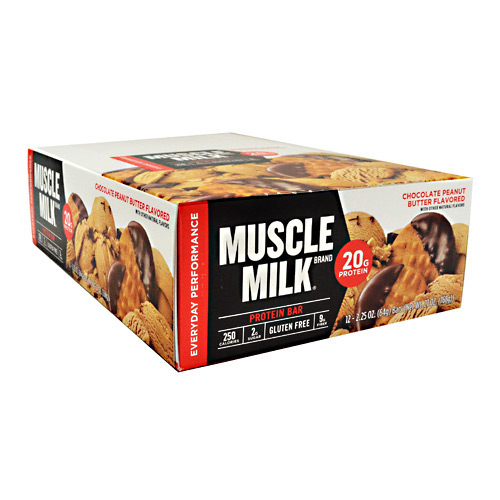 muscle milk® chocolate peanut butter flavored protein bar 12-2.25 oz
