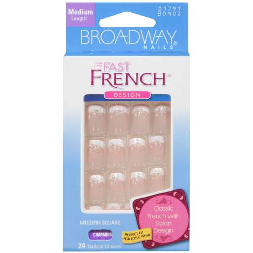 Kiss Broadway Nails Fast French Nail Kit, Charming, 2 Ea