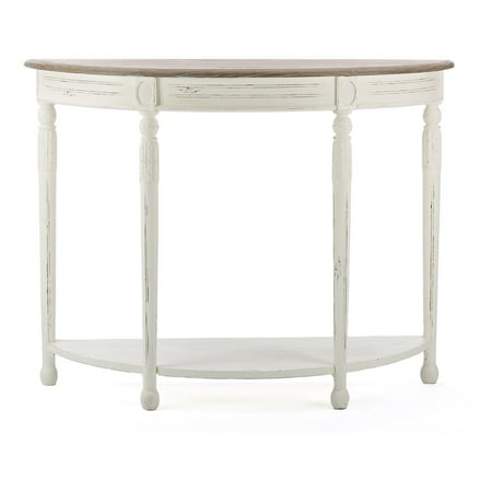 Baxton Studio Vologne Traditional White Wood French Console Table