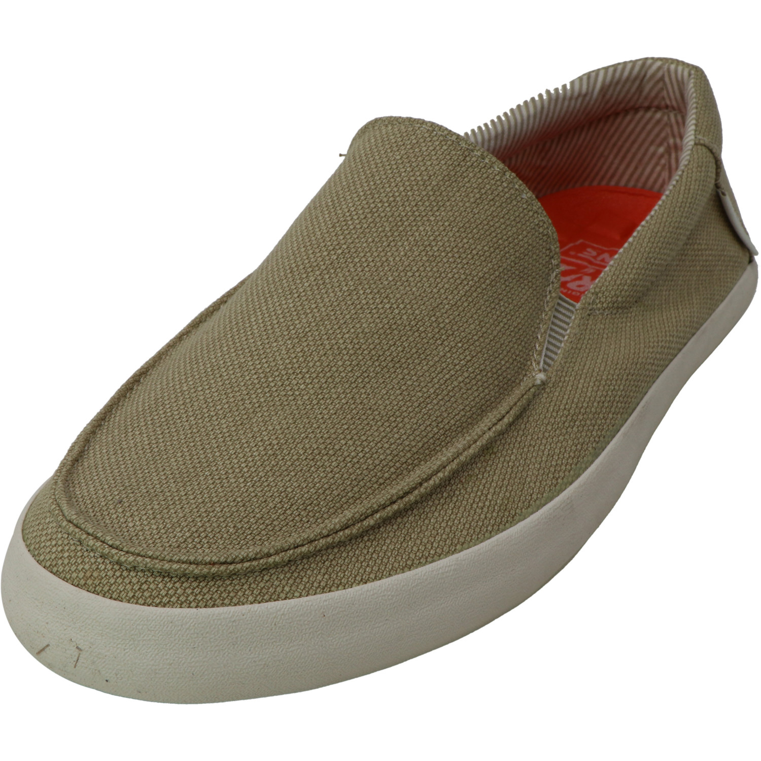Antique White Ankle-High Canvas Slip-On