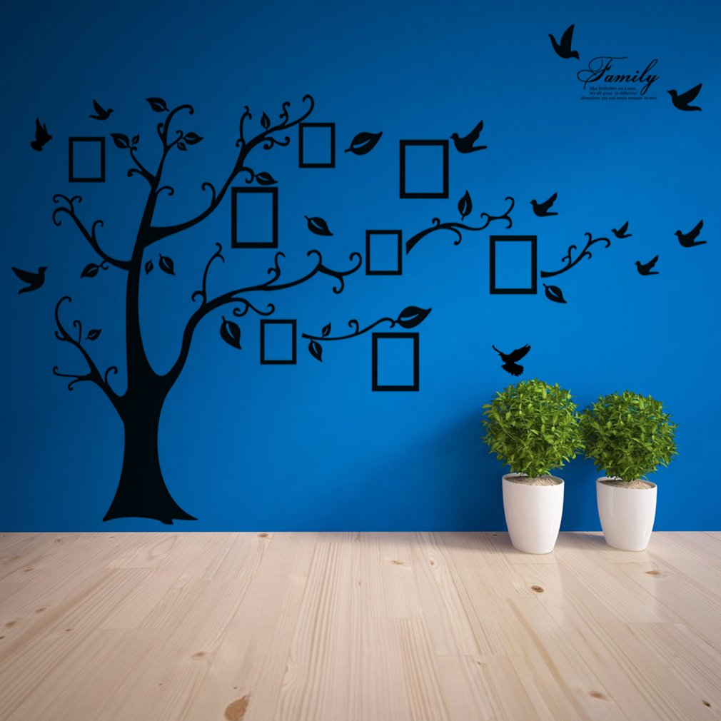 Large Photo Picture Frame Family Tree Removable Wall Sticker Decor