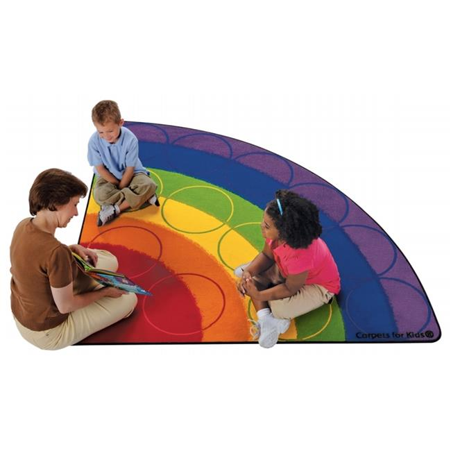 Carpets For Kids 1266 Rainbow Rows 6 ft. Corner