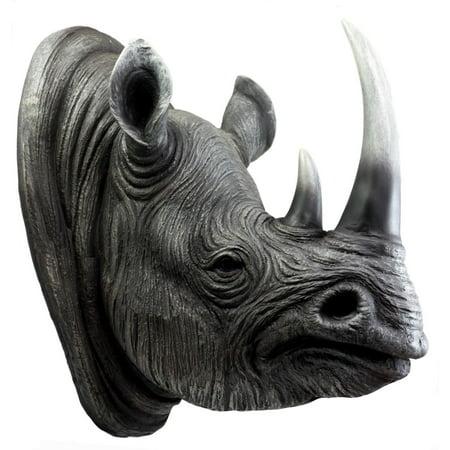 Ebros Safari Black Rhino Wall Plaque 14 5 Tall Taxidermy Rhinoceros Art Decor Sculpture