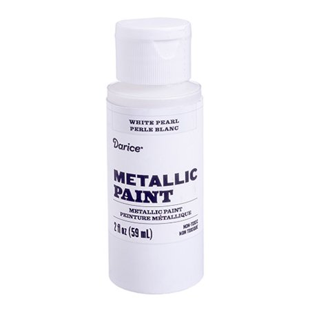 Enhance mixed-media projects with this white pearl metallic acrylic paint. It offers excellent contrast with darker hues, bringing shine to the mix. - Halloween Paint Projects