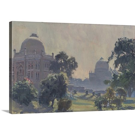 Great BIG Canvas Tim Bolton Premium Thick-Wrap Canvas entitled Lodi Gardens, Delhi, 2009 (oil on canvas) ()