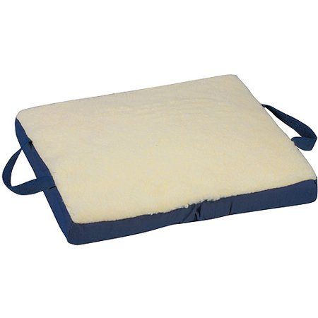 DMI Gel/Foam Flotation Cushion, Fleece Cover, Cream, 16