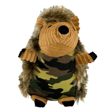 Toy Buddies Dog Squeaky Toy (Dan Dee Cuddly Squeaky Dog Toy Camo Hedgehog, Multicolor, 1.0 CT )