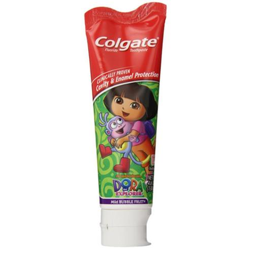 Colgate Toothpaste Stand-Up Tube Dora The Explorer 4.60 oz (Pack of 3)