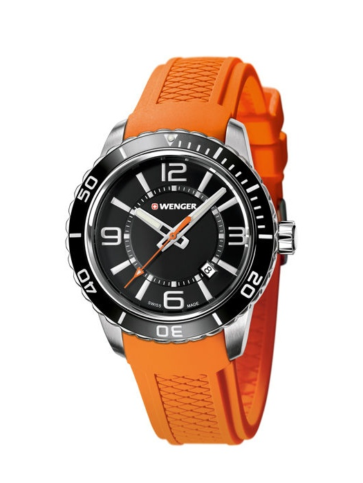 Wenger Roadster Sapphire Crystal Men's Watch with Stainless Steel Case and Silicone Strap