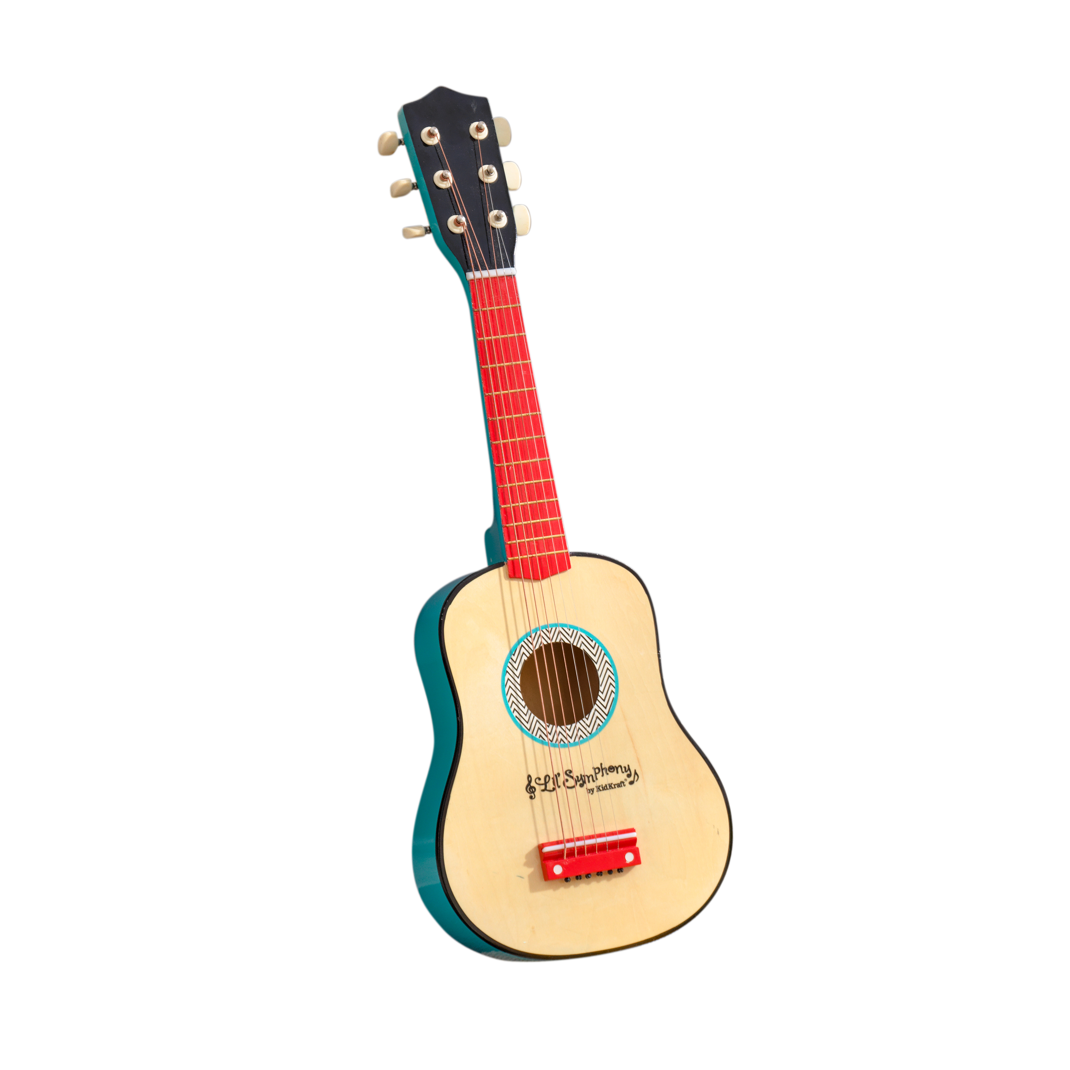 kidkraft lil' symphony wooden play guitar, kids musical