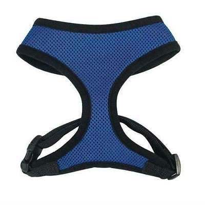 Anti Pull Breathable Mesh NO CHOKE Dog Harness Selections - 10 Colors & 5 Sizes (Blue Harness,xLarge)