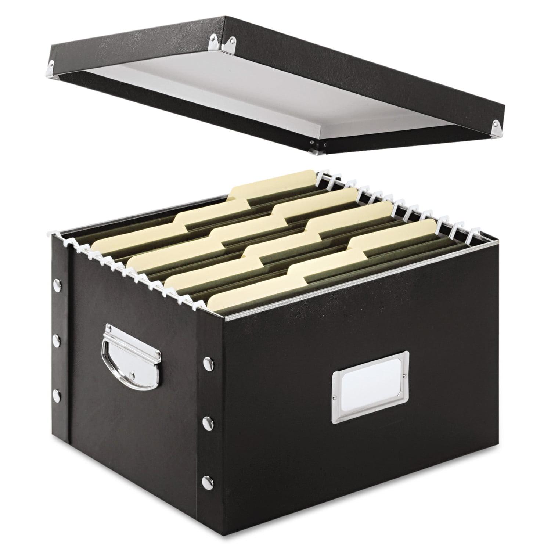 Snap N Storage Box Letter 11 3 4w X 9 4d 1 2h Black Idesns01533 Com