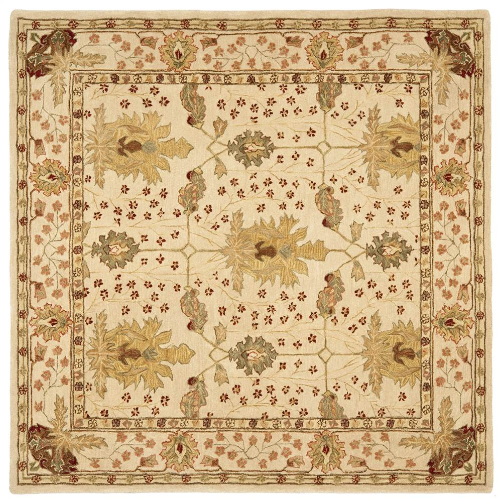 Square Rug in Ivory (6 ft. L x 6 ft. W)