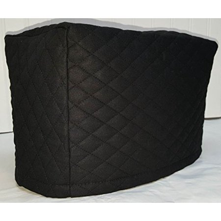 Quilted 2 or 4 Slice Toaster Cover (4 Slice, Black)
