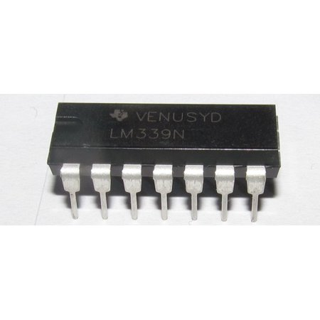 4 Pieces LM339 Quad Differential Comparators DIP14, Single Supply or Dual Supplies By Nat Semi