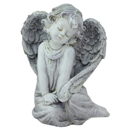 Sleeping Cherub Garden (Northlight Heavenly Gardens Sitting Peaceful Cherub Angel Outdoor Garden Statue )