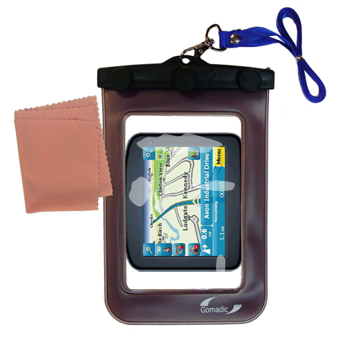 Hollywood Thread Gomadic Clean and Dry Waterproof Protective Case Suitablefor the Maylong FD - 220 GPS For Dummies to use Underwater